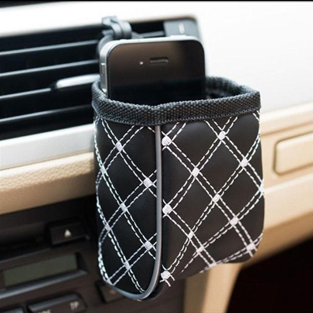 VORCOOL Car Auto Air Vent Outlet Sundries Cell Phone Storage Bag Box Pouch Pocket Holder