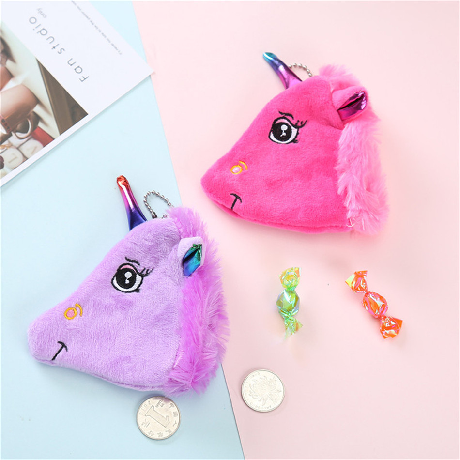 VOGVIGO Bags for Women Unicorn Coin Purses Holder Kawaii Animal Unicorn Mini Change Wallet Small Bag Kids Zipper Pouch Gift in Coin Purses from Luggage Bags