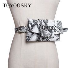 Luxury Women Bag Belt Leopard Snake Pattern Chain PU Waist Phone Pouch Fanny Pack Solid High Quality for Female