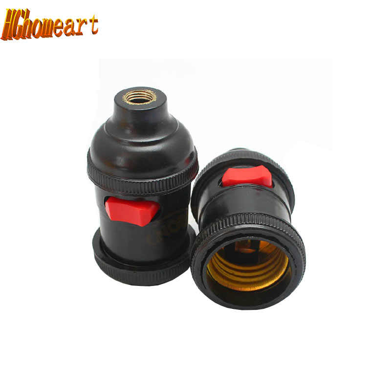 With switch E27 screw caps cuffs machine work lamp cap lamp bulb socket Second gear switch