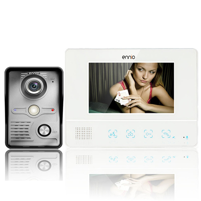 MOUTAINONE 7 Inch TFT Touch Screen Color Video Door Phone CMOS Night Version Doorbell Camera Intercom system