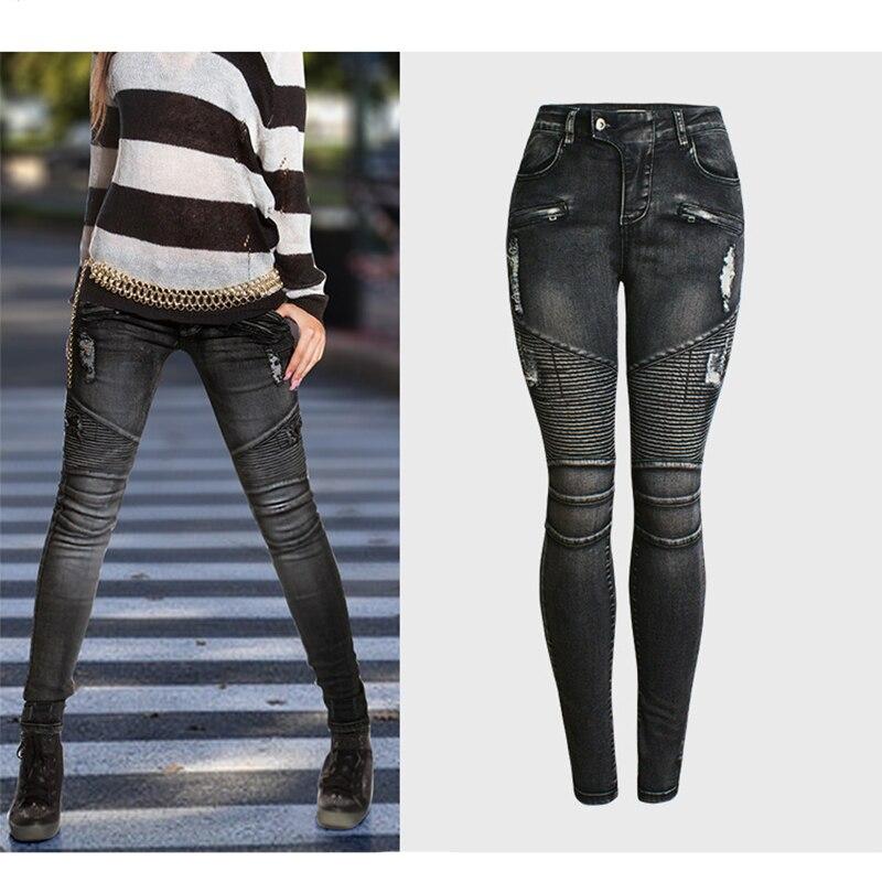 2019   Jeans   Women Slim Black Skinny   Jeans   Woman High Waist   Jeans   Femme Plus Size 3XL Mujer Ripped   Jeans   Women Denim Pencil Pants