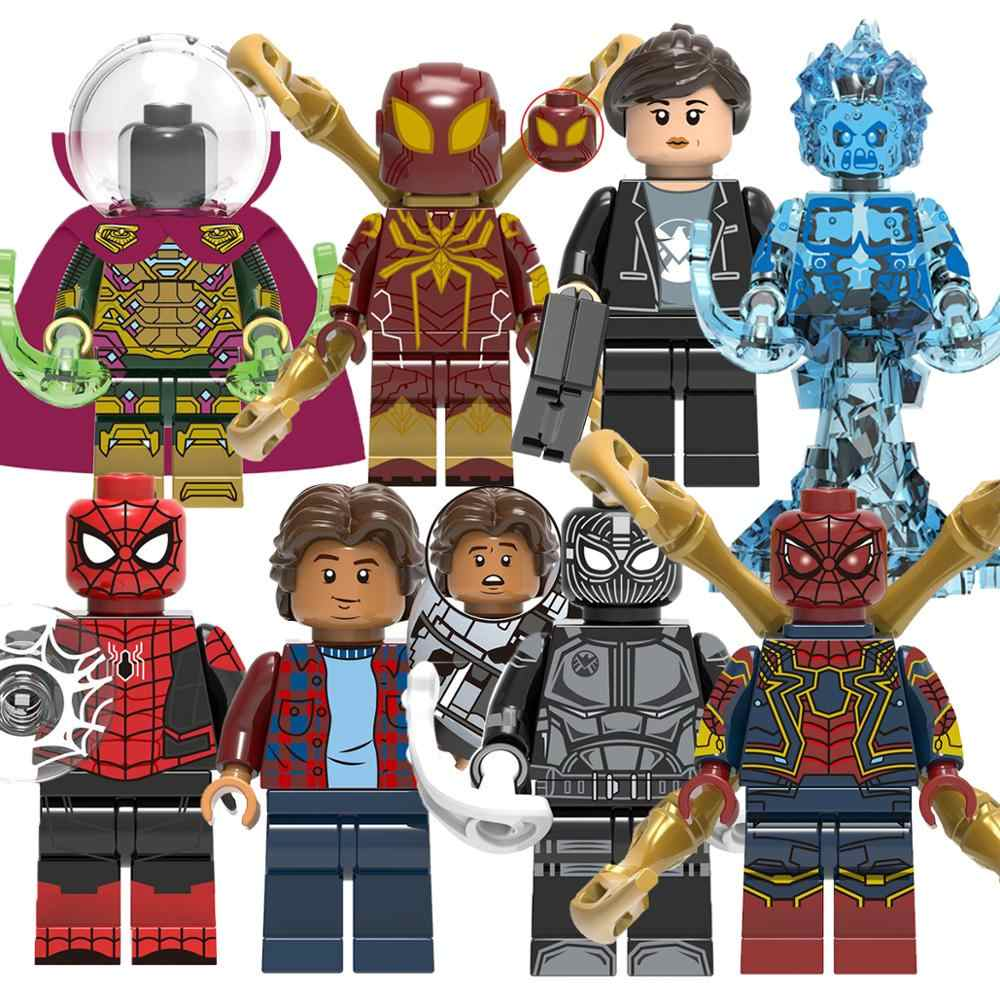 Commercio all'ingrosso 50PCS Marvel Avengers Mysterio Ultimate Spider-Man Building Blocks Giocattoli Per I Bambini X0266