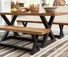 American country to do the old retro wood tables wrought iron dinette combination of the new x-type dining table and bar chairs