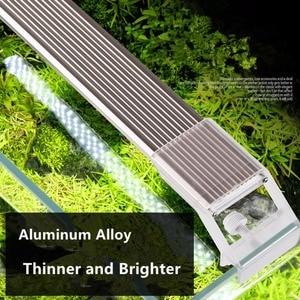 Image 4 - Nicrew SUNSUN ADP sucul bitki SMD LED aydınlatma akvaryum Chihiros 7500K 5W 9W 13W 17W ultra ince alüminyum alaşım balık tankı için