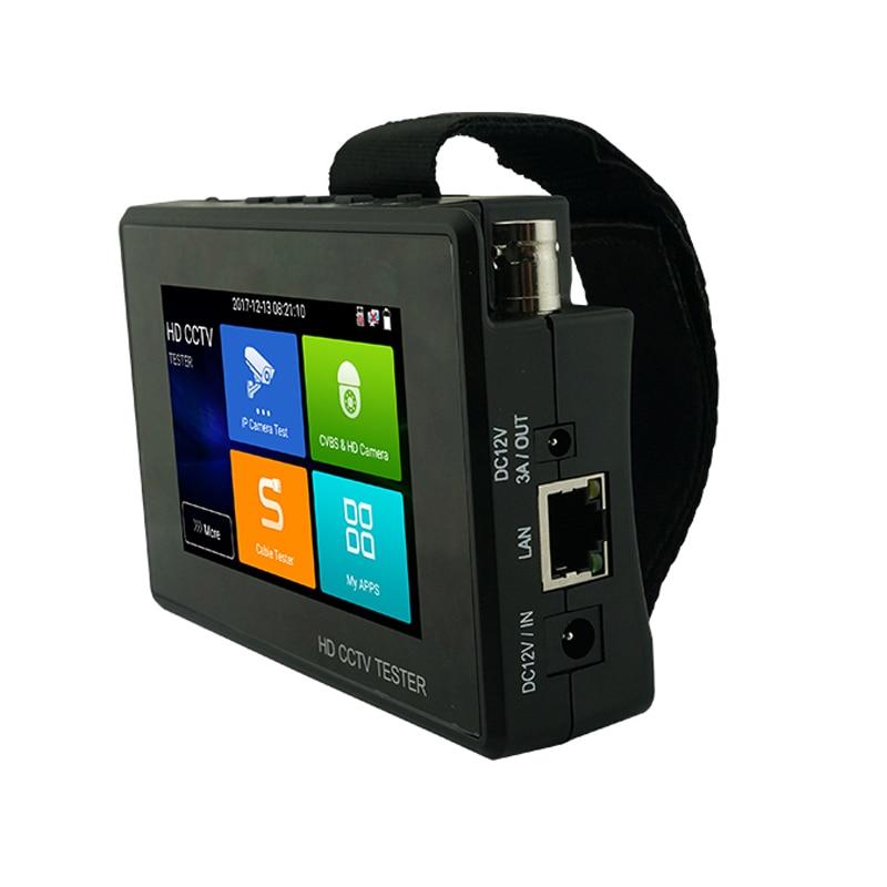 2019 Mais Novo 4 polegada Pulso CCTV HD Camera Tester H.265 4 K IP 8MP 5MP 4MP CVI TVI AHD Analógico 5-em-1 Tester CCTV Monitor com WIFI