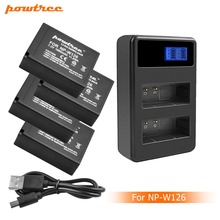цена на 4X 7.2V 1600mAh Li-ion NP-W126 Camera Battery+LCD Dual Charger For Fujifilm FinePix HS30EXR HS33EXR X-Pro1 X-E1 L50
