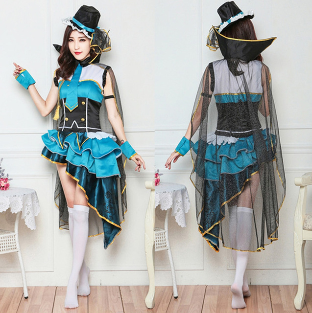 635662a16c3 Love Live Eli Ayase Ellie Occupation Awakening Thief Uniform Cosplay Costume  Full Set Dress Halloween Costumes