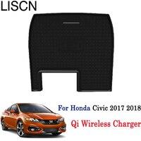 Qi Wireless Charger For Honda Civic 2017 2018 Phone Holder Wireless Charging Smart wireless charger Original car glove box