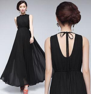 e93244c492a4 2014 summer Nightclub sexy chiffon one piece dress tube top Ball Gown  fashion black long dresses