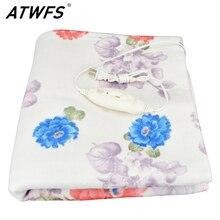 Atwfs электрический нагреватель двойной тело теплее одеяло толще 150*120 см одеяло с подогревом термостат электрическое отопление одеяло