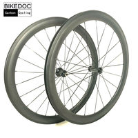 BIKEDOC 650C Carbon Wheelset Bicycle Chinese Carbon Wheels 23mm Width Roue Carbone Carbon Clincher Wheelset