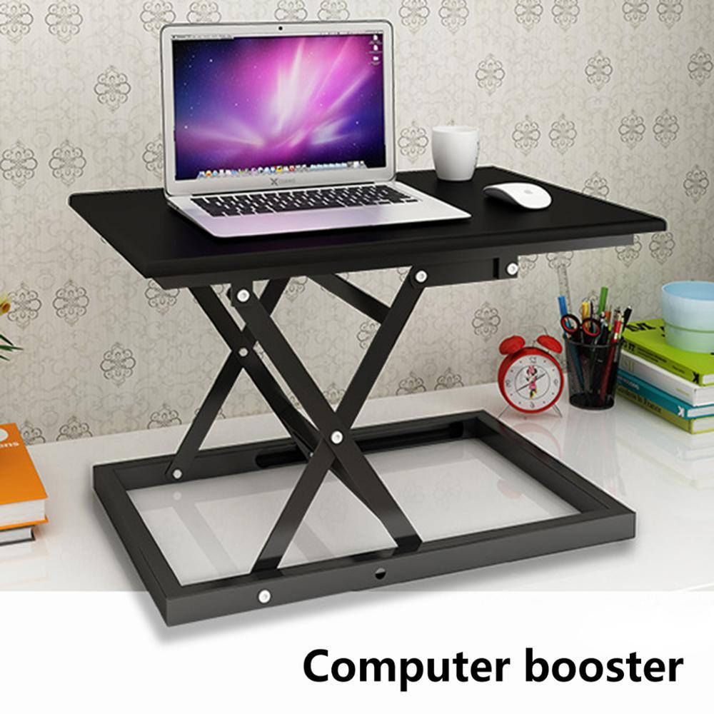 Регулируемая высота Кабриолет сидеть Встать Рабочий стол ноутбука, настольного компьютера стояк настольная рабочая станция - 4