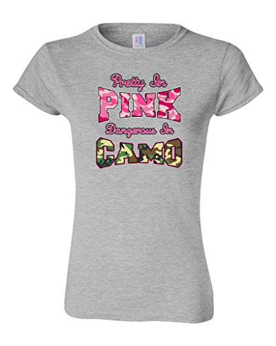 3131f2a196 Custom T Shirts Short Sleeve Pretty In Pink Dangerous In Camo Funny Regular  Crew Neck Tee Shirt For Women