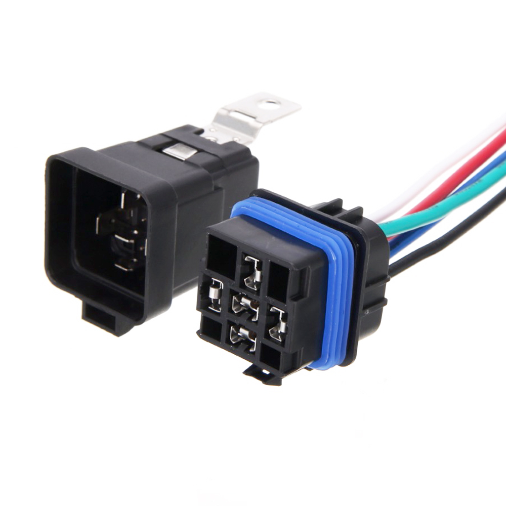 1 Piece Waterproof Automotive Relay 12v  40/30 AMP 5 Pin Car Relay  Fog Lights Terminal Auto Relay With Relay Socket Universal