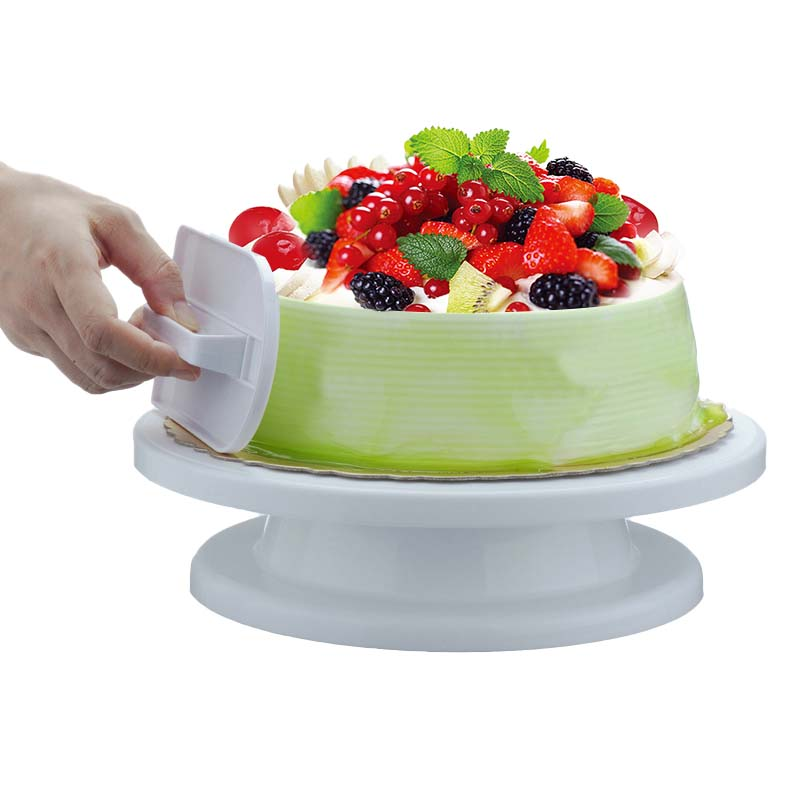 "13/"" Cake Stand Turntable Wood Cake Stand Acacia US STOCK"