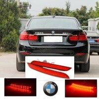 2x Red Lens Bumper Reflector LED Stop Brake Light F30 F31 F34 F32 F33 F36 GT