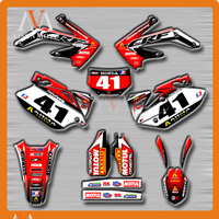 Customized Team Graphics Backgrounds Decals 3M Stickers For HONDA CRF450X CRF 450 X 2005 2006 2007