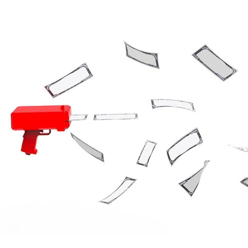 Squirting Money Gun Cash Cannon Spit Banknotes Gun Shot Decompression Fidget Toys Spray Make It Rain