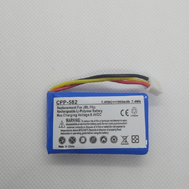 1000 мАч батарея для JBL Flip 1 Bluetooth громкоговоритель 7,4 В полимерный перезаряжаемый аккумулятор Repalcement AEC653055-2S