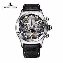 Reef Tijger/Rt Lichtgevende Sport Horloges Voor Mannen Jaar Maand Kalender Automatische Horloge Met Tourbillon RGA703