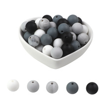 BOBO.BOX 100Pcs 12mm Round Silicone Beads BPA Free Material for DIY Baby Teething Necklace Nursing Toy Baby Teether 100pcs silicone beads 9mm round bpa free diy bead for tooth silicone teether necklace jewelry making baby teething toys
