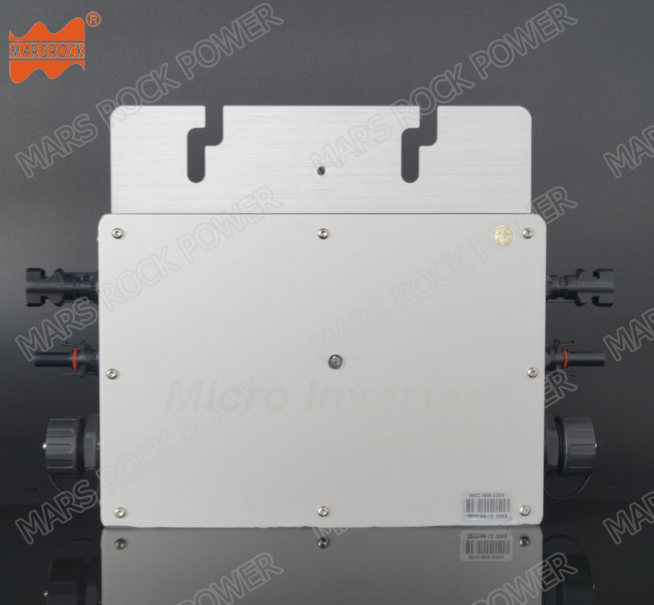 22-50V DC to AC 110V or 220V Waterproof IP65 High Efficiency Pure Sine Wave 600W MPPT Grid Tie Micro Inverter 22 50v dc to ac110v or 220v waterproof 1200w grid tie mppt micro inverter with wireless communication function for 36v pv system