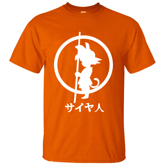 Dragon Ball Z Goku T Shirt  Men 2017 Summer Men Short Sleeve Shirt 100% Cotton High Quality Male T-Shirts Cartoon Anime Top Tees