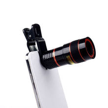 Universal clip 8X Optical Zoom Telescope Len smart phone Camera telephoto Lens for iPhone 4S 5S 6 plus samsung galaxy s5 s4 s3(China)
