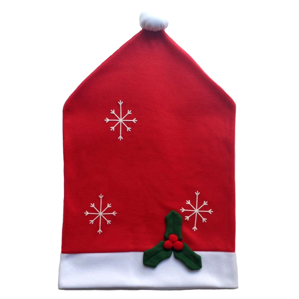 Christmas chair back covers - 75 48cm Santa Claus Chair Covers Christmas Dinner Table Party Christmas Decoration For Dining Room Christmas Chair Back Cover