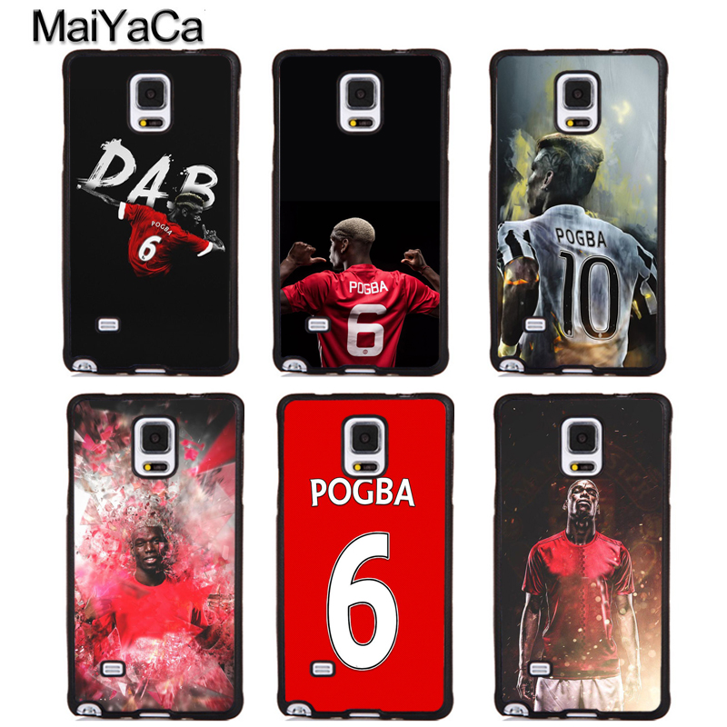MaiYaCa Paul Pogba Style Soft Rubber Phone Cases For Samsung Galaxy S5 S6 S7 edge plus S8 S9 plus Note 4 5 8 Back Coque Cover