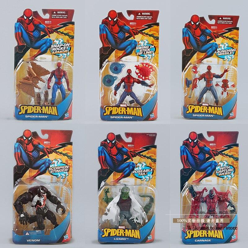 Spider-Man Figure Toy Super Hero Spiderman PVC Action Figure 6 Types New in Box пластилин spider man 10 цветов