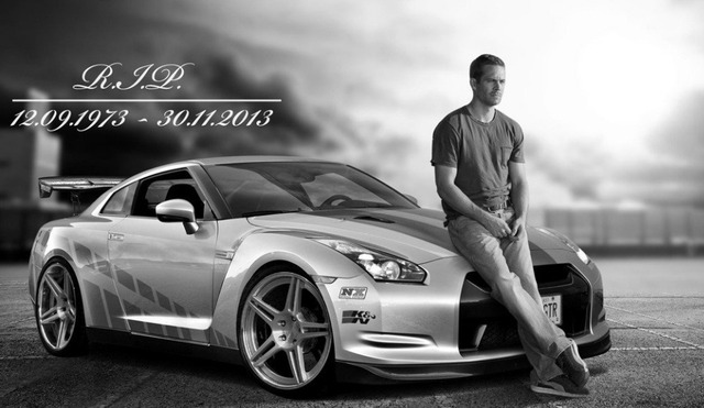 Novelty Print Your Own Picture On Room Wall Paul Walker And Car Poster Wall  Sticker By