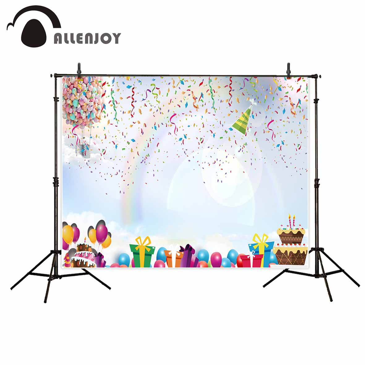 Allenjoy photography background Ribbon Balloons Gifts Celebration Party Children new backdrop photocall camera fotografica