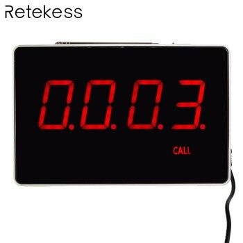 Quatro-Dois Dígitos Visor do Receptor Anfitrião Comunicação de Voz Transmissão Restaurante Pager Sistema de Chamada Sem Fio 433.92 MHz F3303B