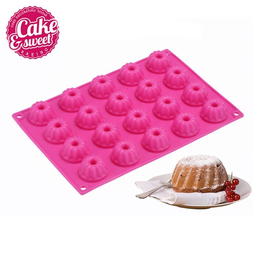 Silikonové pečivo Cake Formy Mýdlo Želé Formy 20 Mřížky Molde - Kuchyně, jídelna a bar