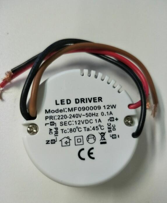 DHL 500ks nejnižší cena LED transformátor 12w konstantní napětí DC 12V výstup používaný pro LED pás / žárovky / reflektor