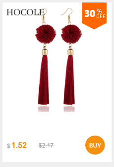 HTB1ukHrXLLsK1Rjy0Fb760SEXXav - HOCOLE Bohemian Crystal Tassel Earrings Black White Blue Red Pink Silk Fabric Long Drop Dangle Tassel Earrings For Women Jewelry