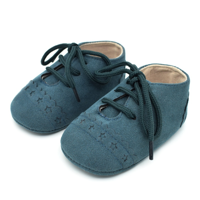 Infant Baby Girls Boys Spring Lace Up Soft Leather Shoes Toddler Sneaker Non-slip Shoes Casual Prewalker Baby Shoes 18