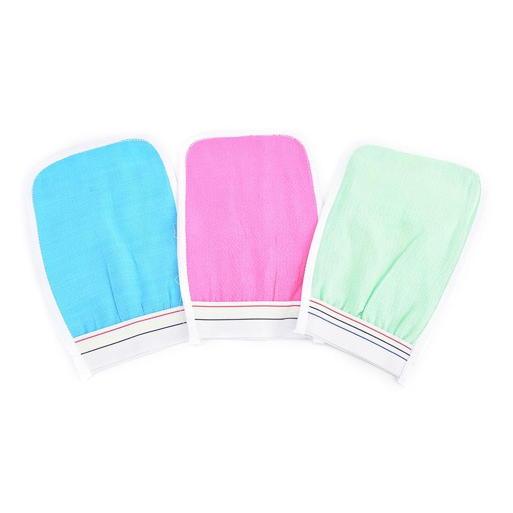 1Pc Soft Exfoliating Wash Skin Spa Bath Glove Scrub Mitt Magic Peeling Glove Bubble Bath Flower Small Rub Cloth