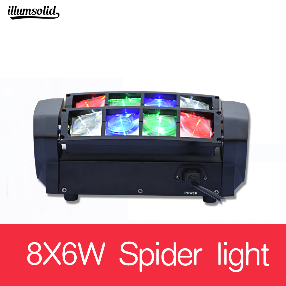 8x6W Mini LED Spider Moving Head Light for Disco KTV Club Party8x6W Mini LED Spider Moving Head Light for Disco KTV Club Party