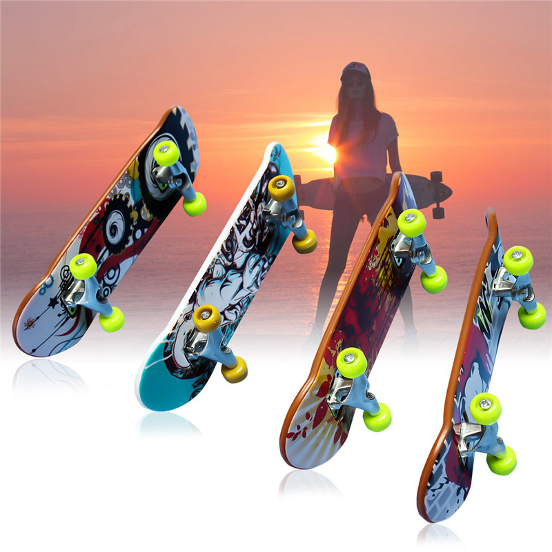 Brand New Fun Board Games Alloy Stand FingerBoard Mini Finger boards Skate trucks Finger Skateboard for Kid Toys Children Gift