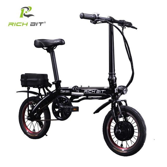 30afa88495025 Richbit 14 pouce Mini Portable Pliant Ville Vélo Électrique Mini Vélo  Pliant 250 W * 36