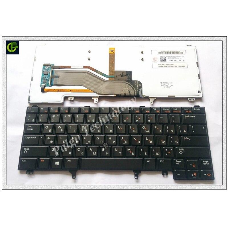 מקלדת חדשה רוסית RU מקלדת עבור DELL E6420 E5420 E5430 E5420 E6320 E6320 E6330 E6420 E6430 E6430ATG E5420M E6430S xt3 E6440 e6230