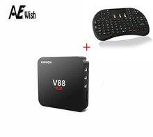 V88 TV Box + i8 Keybord Rockchip 3229 Quad-Core 1G + 8G Android 5.1 OTT kodi KODI 4 K 3D Mini Media Player android tv caja