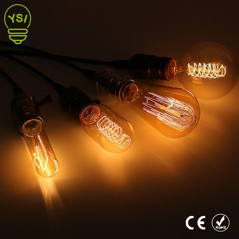 10pcs/lot Retro Vintage Edison Filament Lamp 220V Chandelier Pendant Bulb Light E27 Edison Filament Bulb Lamp Incandescent Light