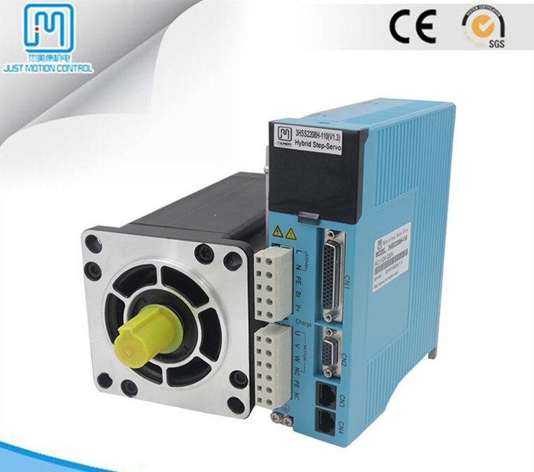 Fase 3 NEMA52 35Nm 4956ozf. em circuito Fechado servo Stepper motor com freio kit motorista JMC 130J12225EC-2500 + 3HSS2208H com freio