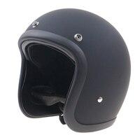 Japanese Style Chopper Bike Motorcycle Helmet Extra Light Weight And Comfortable Shell Handmade Fiber Glass Shell