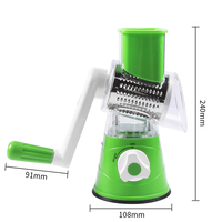 Multifunctional Manual Vegetable Cutter Slicer Round Rotary Slicer Potato Cheese Kitchen Gadgets Kitchen Accessories