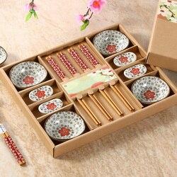 Chiński styl  ceramiczne zestawy sztućców  styl japoński zestaw sushi  naczynia  z pudełkami na prezenty  wysokiej klasy zastawa stołowa!